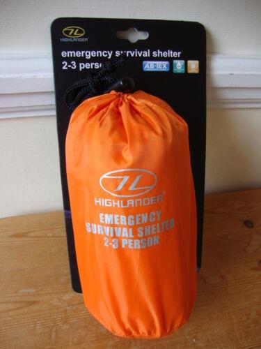 Tente abri Survie Secours Bothy Bag-hi vis orange de sauvetage en montagne Bivi