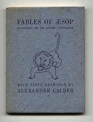 1931 Alexander Calder FABLES OF AESOP rare Limited Edition Slipcase Artist Book