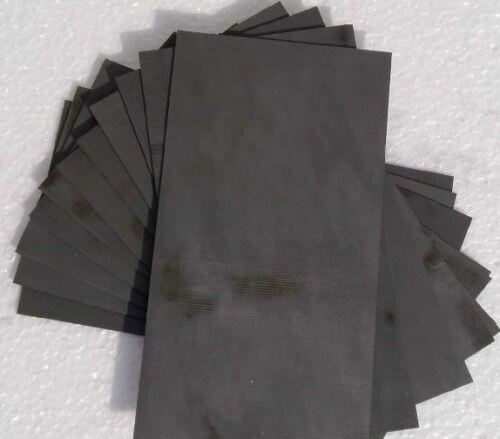 3pcs High Purity 99.99/% Graphite Electrode Rectangle Plate 50X40X3mm