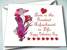6 GREETING CARDS W/ ENVELOPES VALENTINES DAY FOR RED HAT LADIES OF SOCIETY