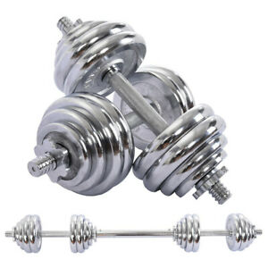 Adjustable-Weight-To-66lbs-Dumbbell-Barbell-Set-Home-Fitness-Gym-Work-Out