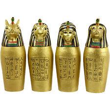Set Of 4 Egyptian Gold Canopic Jars Ancient Egypt Egyptian Decorative Treasures
