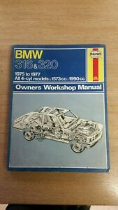 BMW-316-amp-320-1975-1977-HAYNES-WORKSHOP-MANUAL-276-IN-A-USED-COND-FREE-P-amp-P