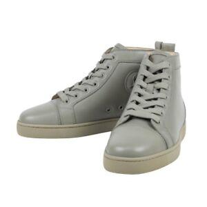 NIB-CHRISTIAN-LOUBOUTIN-039-Louis-039-Olive-Green-Leather-Hi-Top-Sneakers-6-US-39-EU