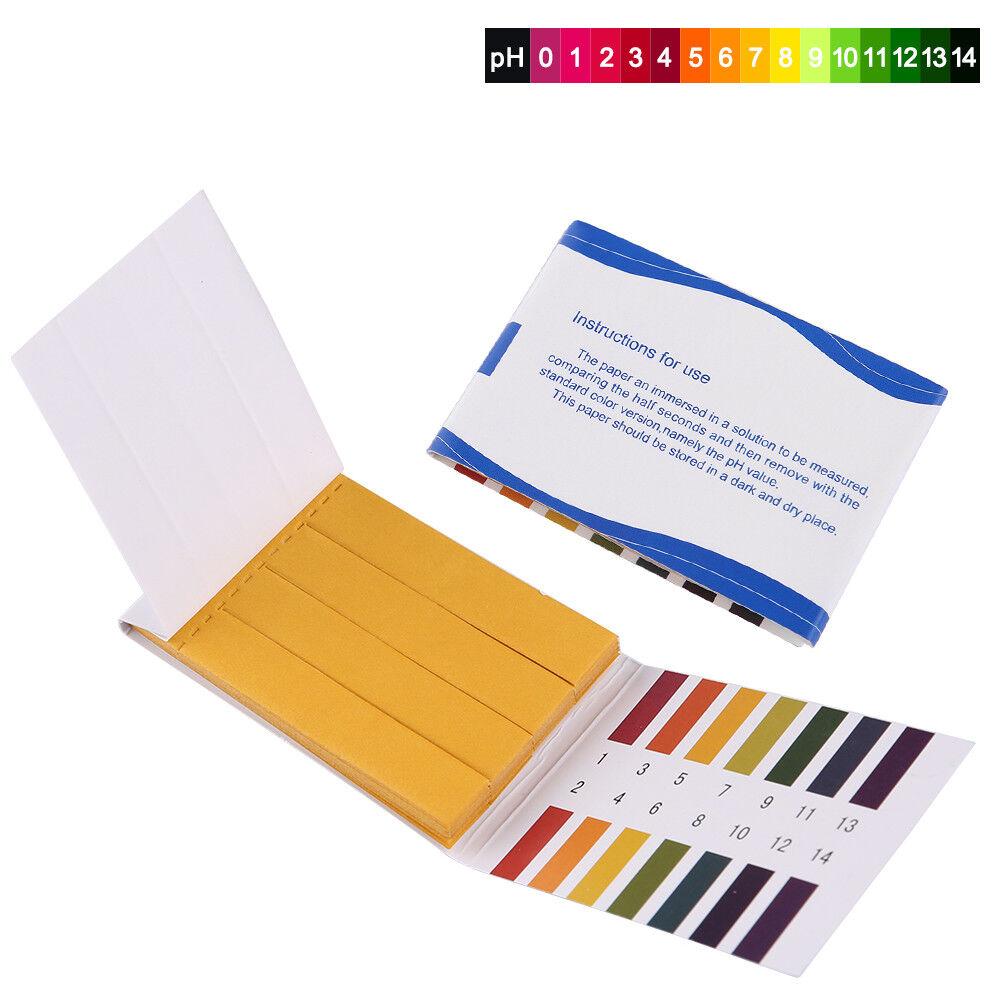 80 Stk 1-14 pH Wert Water Test Teststreifen Indikatorpapier Strips Wassertest DE 2