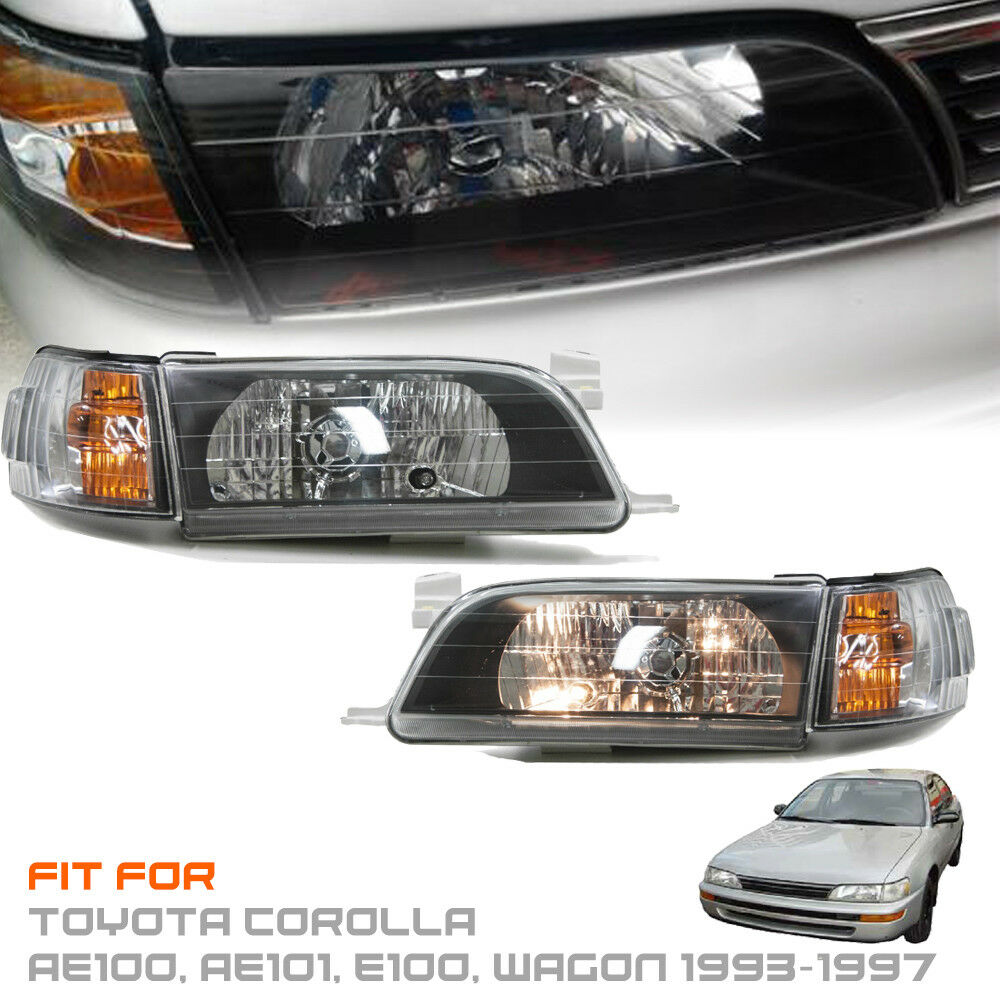 Details About Headlight Front Lamp For Toyota Corolla Ae100 Ae101 E100 Wagon 1993 94 95 96 97