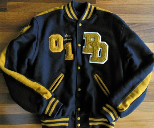 Varsity Jacket USA Diving Patches Vintage Wool Hig