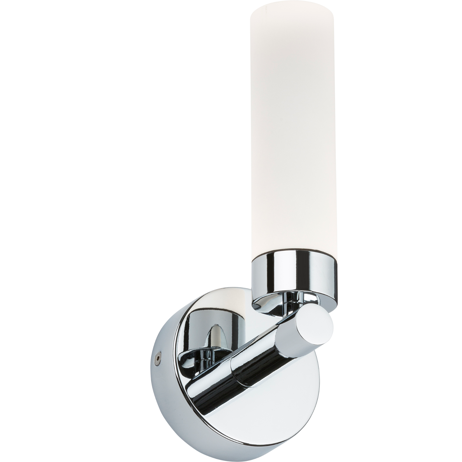 Contemorary Style Chrome LED Bathroom Wall Light - Single or Twin IP44 - 7W LED