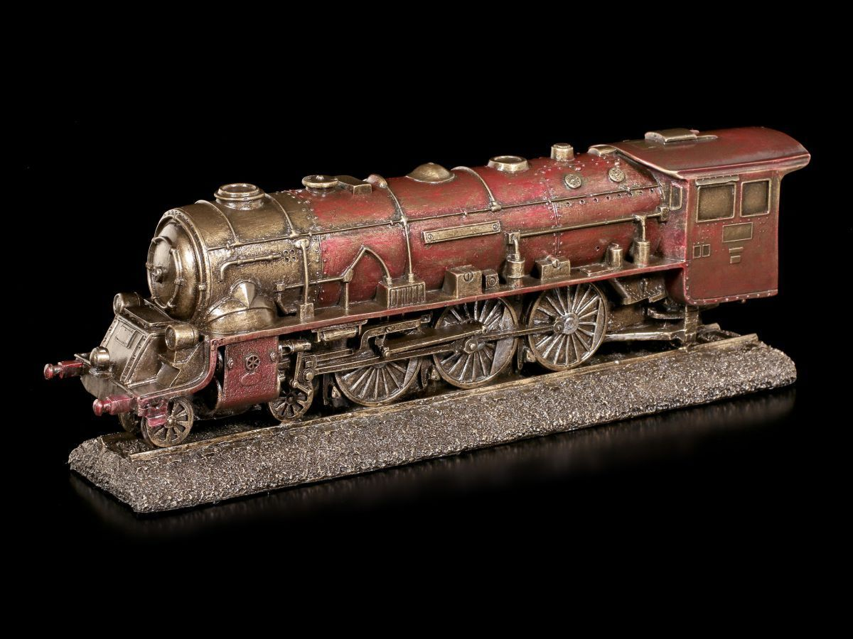 Rouge Locomotive - Figurine Déco - Veronese Train Chemin de Fer Steampunk