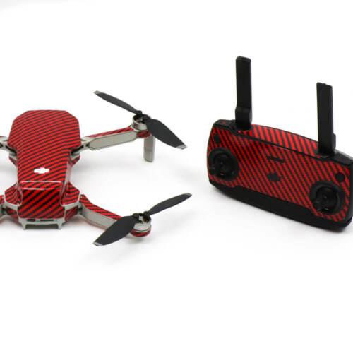 Carbon Fibre Red Drone Skin Wrap Stickers for DJI Mavic Mini