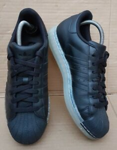 ADIDAS-SUPERSTAR-CLR-BLACK-TRAINERS-IN-SIZE-7-5-UK-RARE-WORN-ONCE-IMMACULATE