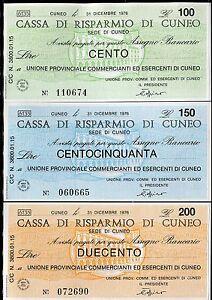 Cassa Di Risparmio Di Cuneo 31/12/1976 Unione Prov.comm.eserc.cuneo 3 Pz Nvdx7fq6-08001229-927049004