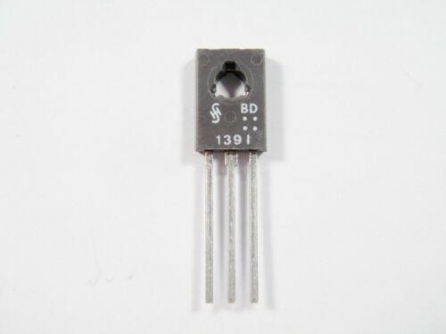 10x BD139 Transistoren Siemens BD139 NPN 2A 1,5A 100V 12,5W #19-514