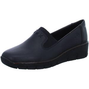 Rieker-Antistress-Damen-Schuhe-Halbschuh-Slipper-Ballerina-53762-01-black-Leder