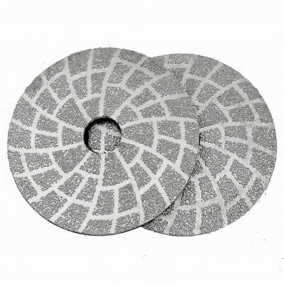 DIATOOL 2pcs #50 4 Inch Vacuum Brazed Diamond Grinding Disc Dry or Wet grinding