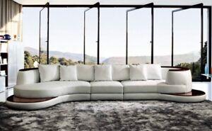 Rundsofa-Design-Canape-D-039-Angle-Rembourrage-Cuir-Parure-Paysage-Interieur-Royal