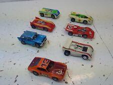 Vintage lot of  7 AFX /Thunder Jet/  Slot Cars  in HO Scale