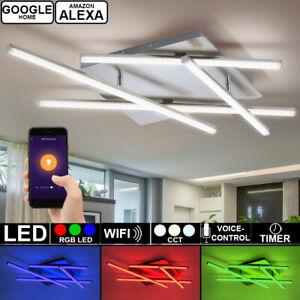 Smart-Home-RGB-LED-Decken-Lampe-DIMMBAR-Tageslicht-Leuchte-Alexa-Google-App