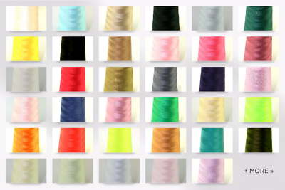 each Budget 75s Polyester Sewing Thread Cone B500075-M
