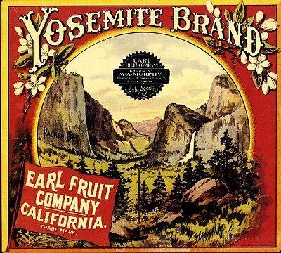 Highgrove Yosemite Orange Citrus Fruit Crate Label Art Print