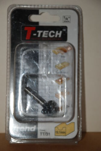 """Trend TT31 ¼/"""" Shank 19.1mm Cove Router Bit New and Sealed T-Tech"""