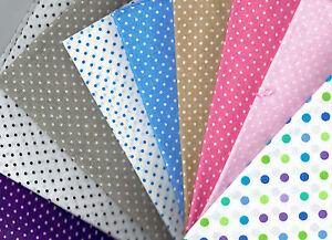 Fat-Quarter-Spots-amp-DOTS-100-Cotton-Fabric-Quilting-Patchwork-Applique-Crafts
