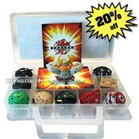 Child Gift Bakugan Battle Brawlers 9 Pcs Boys Bakugans & 9 Cards With Nice Case
