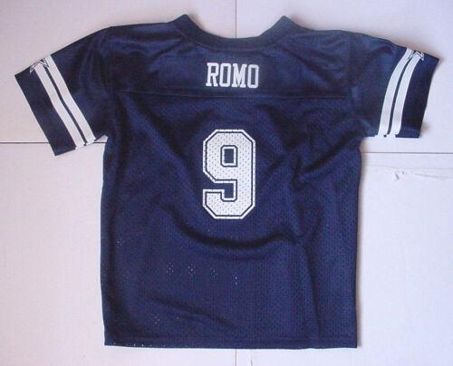 Nwt Tony Romo 9 Dallas Cowboy Maille Bleu Marine Petits Garçons Sz 2T 3T 4T