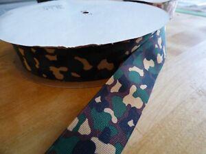 "Offray Ribbon Camo Rare Desert 1 1//2/"" Grosgrain bows crafts lanyards 5 Yards"