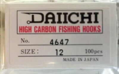 DAIICHI4647 Competition Hook 60 Degree Black Nickel Fly Jig Hooks 100 CT Box