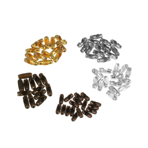 Ball Beads Chain Connector End Clasps DIY Jewelry Making Accessories 200pcs//lot