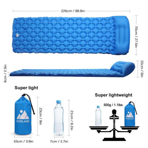 Tragbar Aufblasbare Camping Matratze Isomatte Luftmatratze Schlafmatte Matte DHL