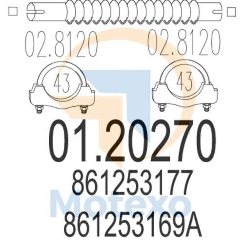 MTS 01.20270 GENUINE NEW échappement Avec 2 An de garantie