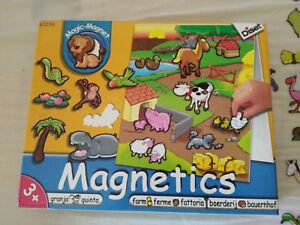 GRANJA-MAGIC-MAGNET-PIEZAS-MAGNETICAS-ANIMALES-JUGUETE-INFANTIL-CON-TABLERO