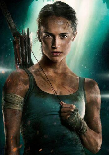 TOMB RAIDER Movie PHOTO Print POSTER Film Art Alicia Vikander Lara Croft 006