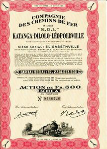 034-K-D-L-034-Compagnie-des-Chemins-de-Fer-Katanga-Dilolo-Leopoldville-Serie-A