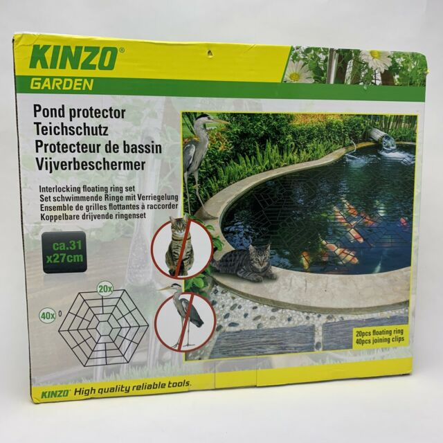 20 Piece Pond /& Fish Guard Protector Plastic Floating Net Rings Protective Cover
