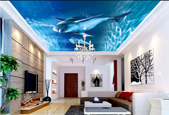 3D Blau Dolphin 725 Ceiling Wall Paper Print Wall Indoor Wall Murals CA Carly