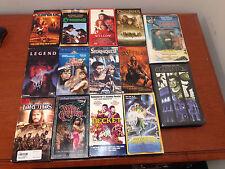 Fantasy, Sword and Sorcery VHS LOT - Red Sonja Stormquest, wizard, dark crystal
