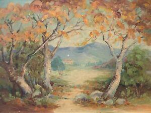 🔥 Antique California Plein Air Impressionist Landscape Oil Painting - Teagle