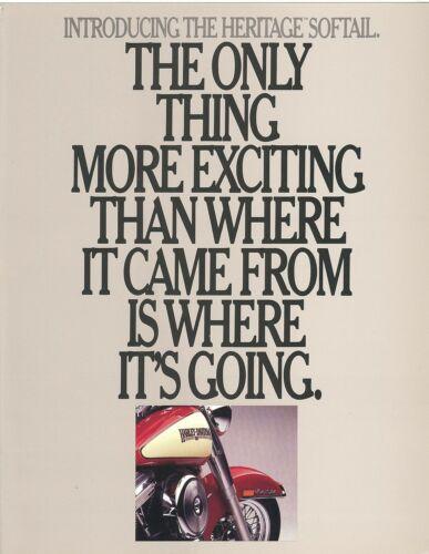 1986 Harley Davidson Heritage Softail Dealer Sales Brochure