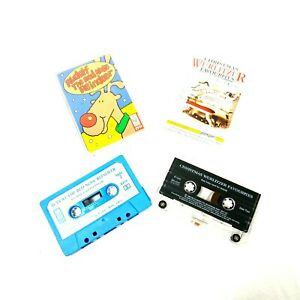 Vintage-90s-Christmas-Time-Music-Cassette-Tapes-Rudolph-amp-Wurlitzer