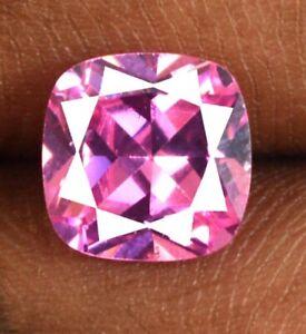Pink Sapphire Natural Cushion Gemstone 5.15 Ct Ceylon Bumper Sale Certified CI57