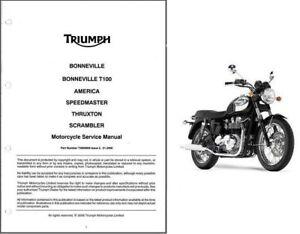 triumph bonneville t100 2003 repair service manual