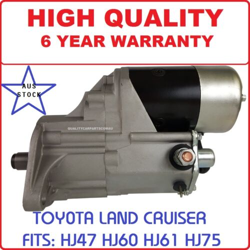 Starter Motor for Toyota Landcruiser HJ75 Engine 2H 4.0L Diesel 1985-1990
