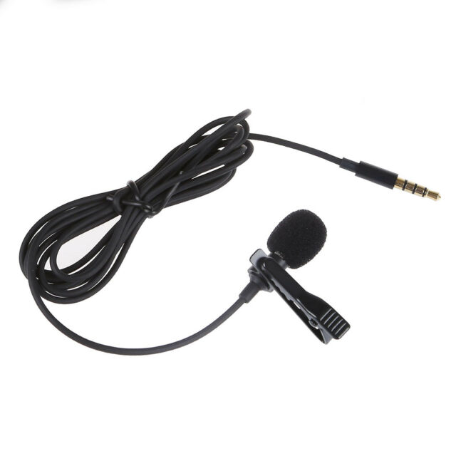 Lavalier Lapel Clip-on Omnidirectional miniphone TRRS 3.5mm Jack Handsfree N9P4
