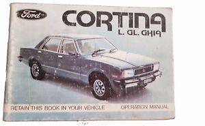 Ford Cortina L Gl Ghia Operation Manual Maintenance Schedule Ebay