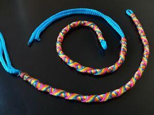 Belle 2 Pulseras Hilo De Colores Azul Bisuteria Pulsera Ajustable Abalorios Lissage De La Circulation Et Des Douleurs D'ArrêT