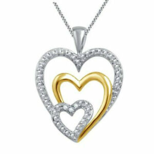 Sterling-Silver-Gemstone-Birthstone-Infinity-Heart-Necklace-Triple-Heart-Pendant