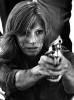 Gauntlet Woman Holding A Revolver Gun High Quality Photo